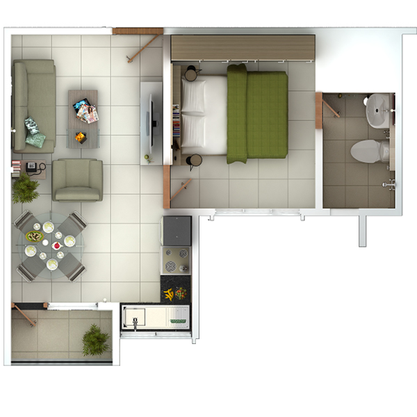 1 BHK Fully Furnished Flats/Apartments in Chennai, OMR ...
