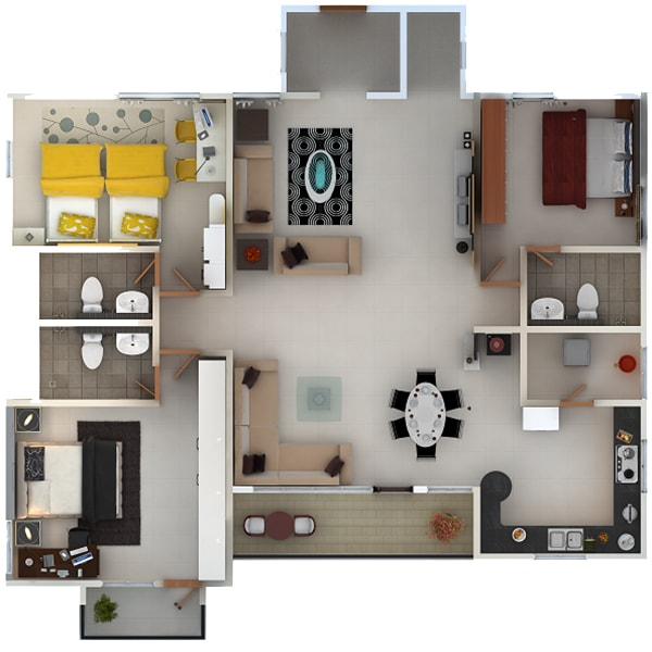 3 BHK Premium Apartments